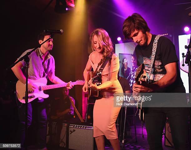 Singer/Songwriter Margo Price ACM Guitarist of the Year Derek Wells joins Charlie Worsham's Midnight Jam Day 3 on June 10 2016 in Nashville Tennessee