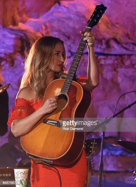 Singer/Songwriter Margo Price performs during Tennessee Tourism Third Man Records 333 Feet Underground at Cumberland Caverns on September 29 2017 in...