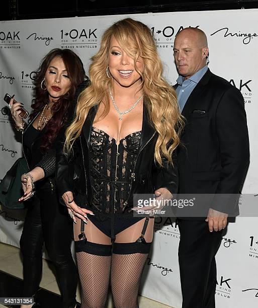 Singer/songwriter Mariah Carey arrives at 1 OAK Nightclub at the Mirage Hotel Casino to debut her DJ set on June 26 2016 in Las Vegas Nevada