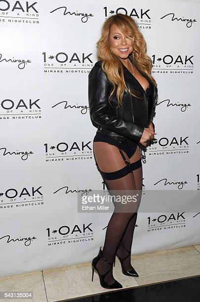 Singer/songwriter Mariah Carey arrives at 1 OAK Nightclub at the Mirage Hotel Casino to debut her DJ set on June 26 2016 in Las Vegas Nevada