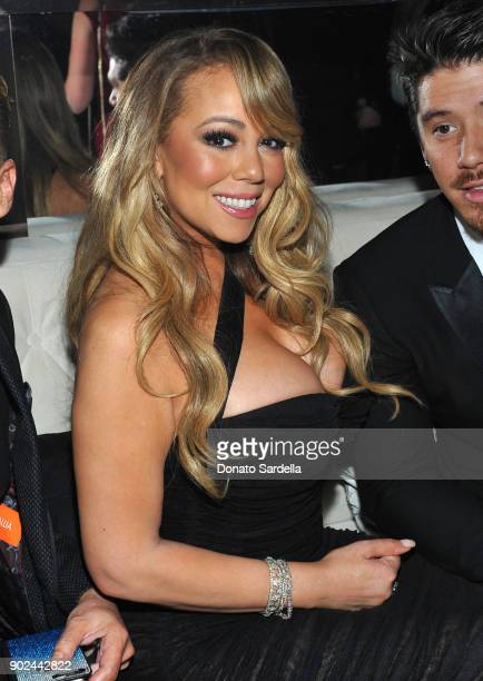 Singer/songwriter Mariah Carey attends the 2018 InStyle and Warner Bros 75th Annual Golden Globe Awards PostParty at The Beverly Hilton Hotel on...