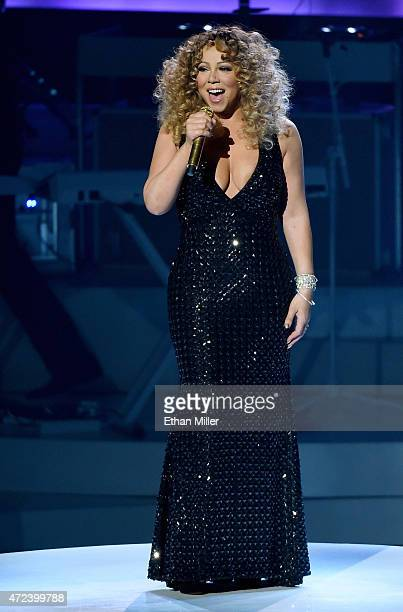 Singer/songwriter Mariah Carey performs during the launch of her residency MARIAH TO INFINITY at The Colosseum at Caesars Palace on May 6 2015 in Las...