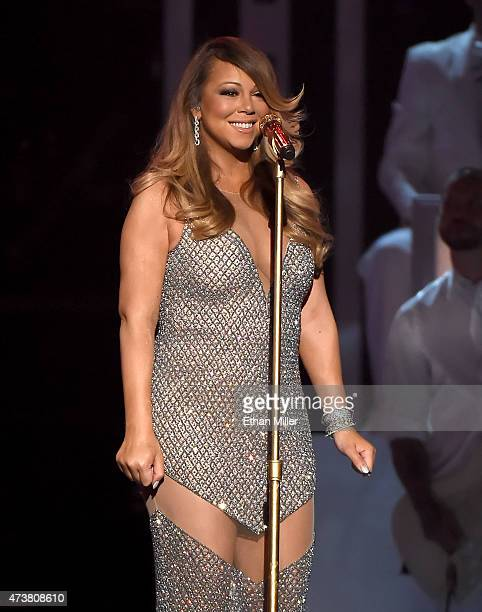 Singer/songwriter Mariah Carey performs onstage during the 2015 Billboard Music Awards at MGM Grand Garden Arena on May 17 2015 in Las Vegas Nevada