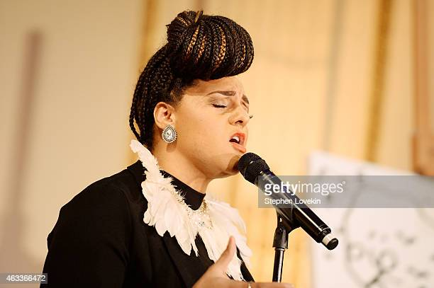 Singer-songwriter Marsha Ambrosius performs at Russell Simmons' Rush Philanthropic Arts Foundation's annual Rush HeARTS Education Valentine's...