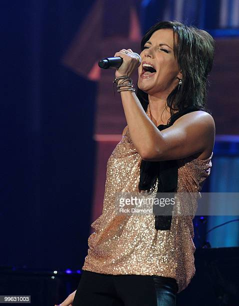 Singer/Songwriter Martina McBride performs during the Music City Keep on Playin' benefit concert at the Ryman Auditorium on May 16, 2010 in...