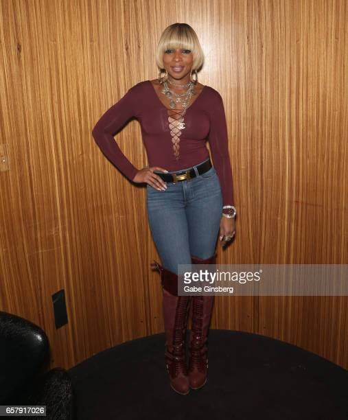 Singer/songwriter Mary J Blige attends the 10th annual Tempted2Touch Black LGBT Pride Spring Break Getaway at the Rain Nightclub inside Palms Casino...
