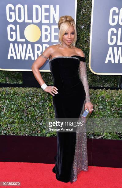 Singersongwriter Mary J Blige attends The 75th Annual Golden Globe Awards at The Beverly Hilton Hotel on January 7 2018 in Beverly Hills California