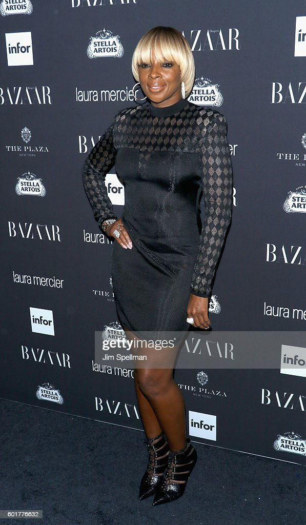 Singer/songwriter Mary J. Blige attends the Harper's BAZAAR celebrates 'ICONS By Carine Roitfeld' at The Plaza Hotel on September 9, 2016 in New York City.