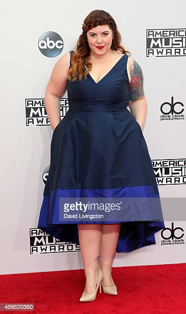 Singer/songwriter Mary Lambert attends the 42nd Annual American Music Awards at the Nokia Theatre LA Live on November 23 2014 in Los Angeles...
