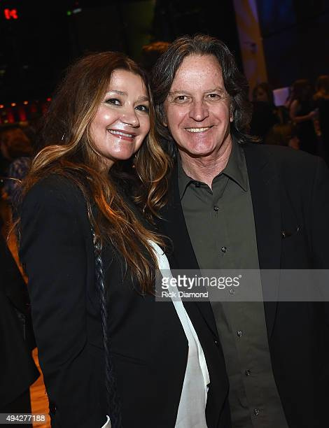 Singer/Songwriter Matraca Berg and Jeff Hanna Nitty Gritty Dirt Band attend The Country Music Hall of Fame 2015 Medallion Ceremony at the Country...