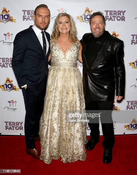 Singer/songwriter Matt Goss Angie Fiore Fator and her husband comic ventriloquist and impressionist Terry Fator attend Terry Fator's 10th anniversary...