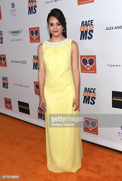 Singer/songwriter Megan Nicole attends the 22nd Annual Race To Erase MS Event at the Hyatt Regency Century Plaza on April 24 2015 in Century City...
