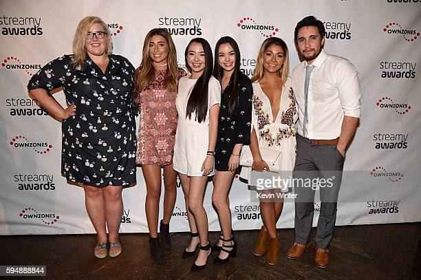 Singer/songwriter Meghan Tonjes internet personalities Andrea Russett Vanessa Merrell Veronica Merrell Lauren Elizabeth and Chester See attend The...