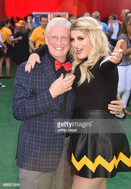 Singersongwriter Meghan Trainor and father Gary Trainor attend the Premiere of 20th Century Fox's 'The Peanuts Movie' at the Regency Village Theatre...
