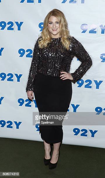 Singer/songwriter Meghan Trainor attends L A Reid in conversation with Gayle King with special guest Meghan Trainor at 92Y on February 2 2016 in New...