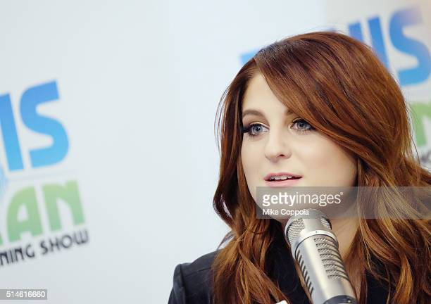 Singer/songwriter Meghan Trainor is interviewed during her visit at 'The Elvis Duran Z100 Morning Show' at Z100 Studio on March 10 2016 in New York...