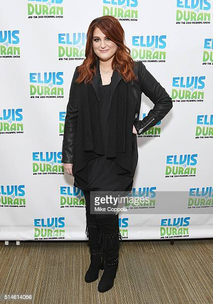 Singer/songwriter Meghan Trainor visits 'The Elvis Duran Z100 Morning Show' at Z100 Studio on March 10 2016 in New York City