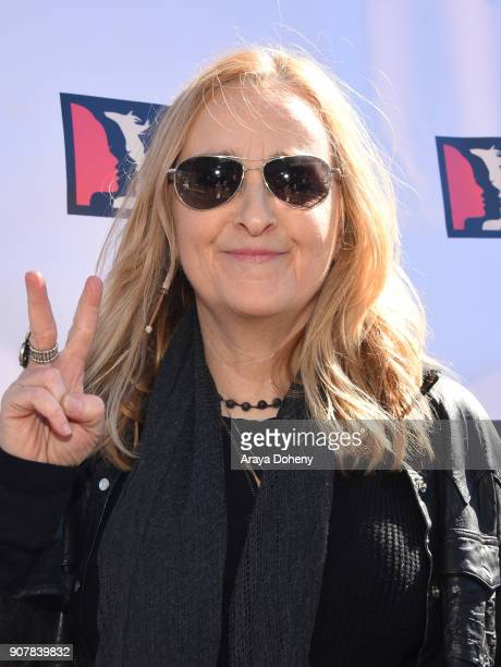Singer/songwriter Melissa Etheridge at 2018 Women's March Los Angeles at Pershing Square on January 20 2018 in Los Angeles California