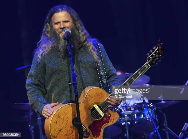 Singer/Songwriter Melonie Jamey Johnson perform during Daryle Singletary Keepin' It Country Tribute Show at Ryman Auditorium on March 27 2018 in...