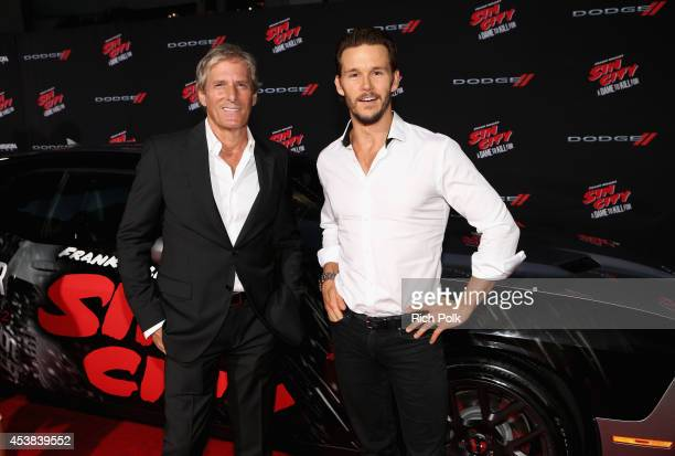 Singer/songwriter Michael Bolton and actor Ryan Kwanten attend 'SIN CITY A DAME TO KILL FOR' premiere presented by Dimension Films in partnership...
