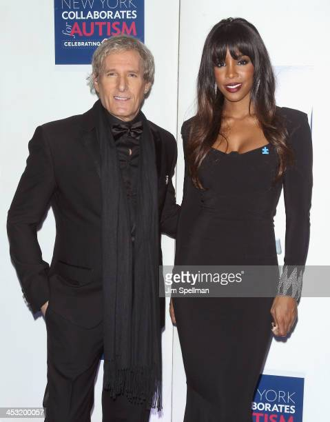 Singer/songwriter Michael Bolton and singer Kelly Rowland attend the 2013 Winter Ball For Autism the at Metropolitan Museum of Art on December 2 2013...