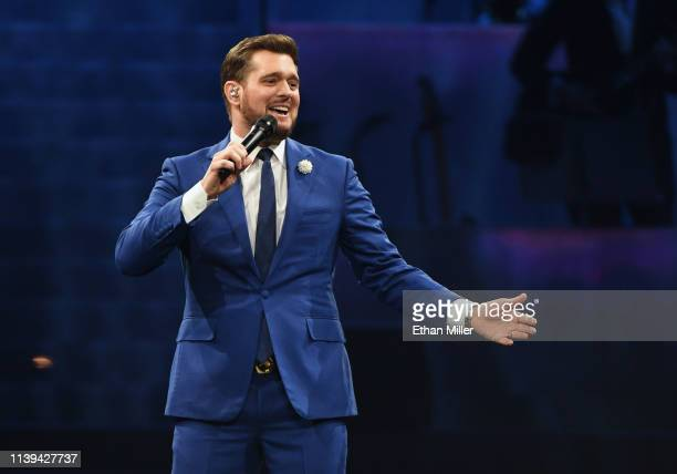 Michael Buble In Concert Las Vegas Nv Stock Pictures Royalty Free