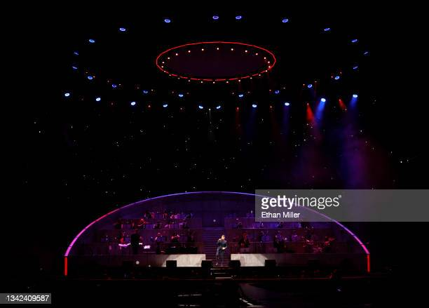 Singer/songwriter Michael Buble performs at T-Mobile Arena on September 24, 2021 in Las Vegas, Nevada.