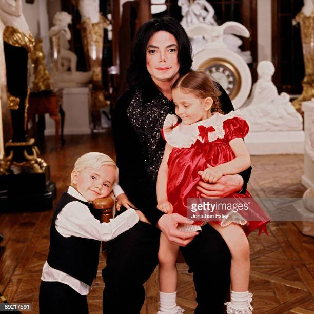 Singer/Songwriter Michael Jackson and children Michael Joseph Jackson Jr and Paris Michael Katherine Jackson photographed at Neverland Ranch in 2001