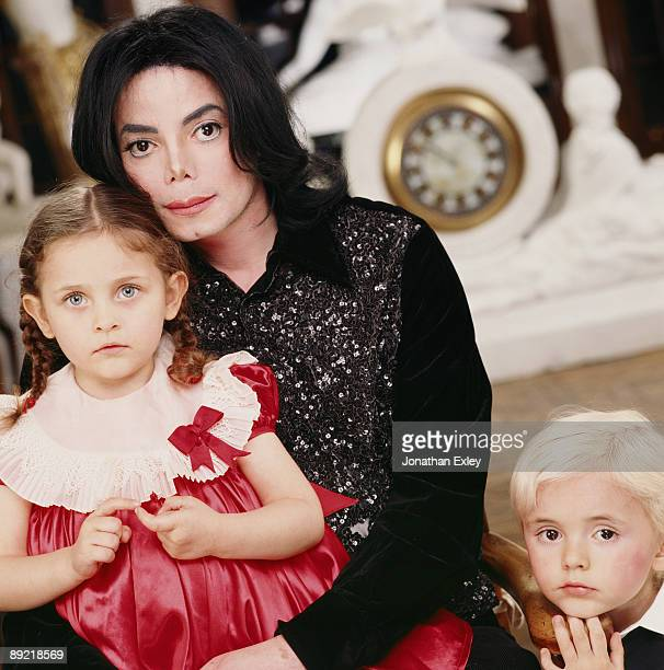 Singer/Songwriter Michael Jackson and children Paris Michael Katherine Jackson and Michael Joseph Jackson Jr photographed in at Neverland Ranch for...