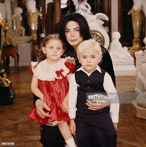 Singer/Songwriter Michael Jackson and children Paris Michael Katherine Jackson and Michael Joseph Jackson Jr photographed at Neverland Ranch for Vibe...