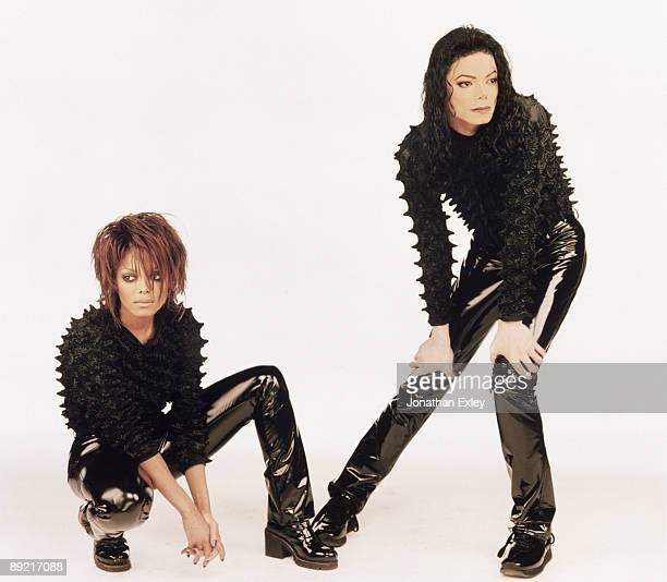 Singer/Songwriter Michael Jackson and sister Janet Jackson on the set of music video 'Scream' in Los Angeles 1995