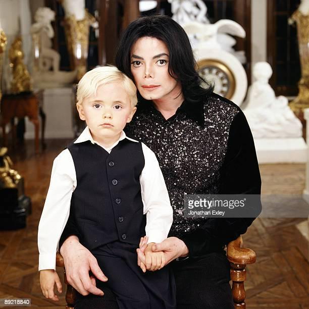 Singer/Songwriter Michael Jackson and son Michael Joseph Jackson Jr photographed at Neverland Ranch for Vibe Magazine on December 17 2001