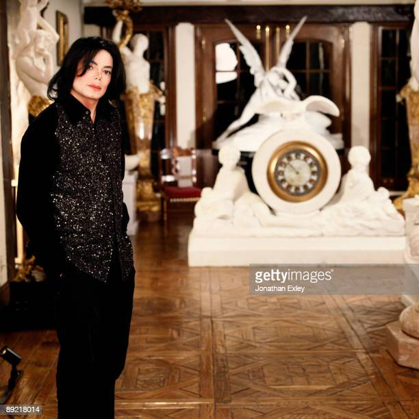 Singer/Songwriter Michael Jackson photographed at Neverland Ranch in 2001