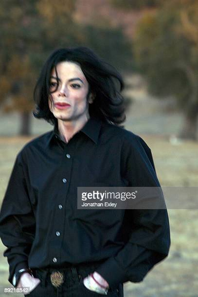 Singer/Songwriter Michael Jackson photographed at the Neverland Ranch in October 2005