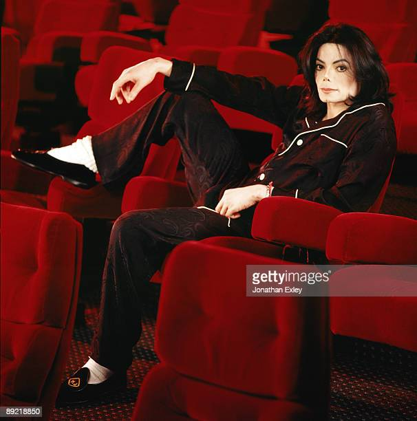Singer/Songwriter Michael Jackson photographed in his home theatre at Neverland Ranch for Vibe Magazine on December 17 2001