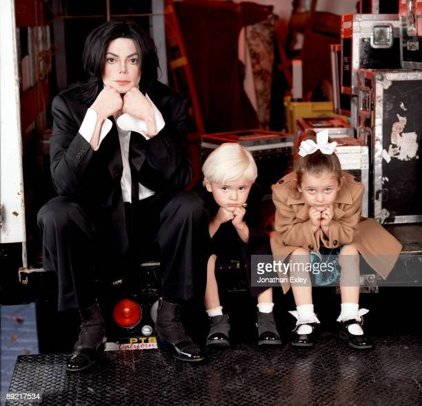 Singer/Songwriter Michael Jackson with children Michael Joseph Jackson Jr and Paris Michael Katherine Jackson photographed at Neverland Ranch for...
