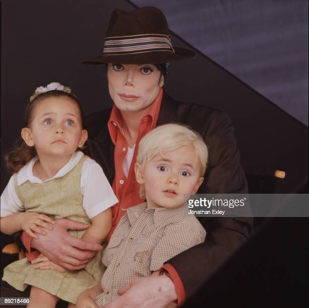 Singer/Songwriter Michael Jackson with children Paris Michael Katherine Jackson and Michael Joseph Jackson Jr photographed in Los Angeles in August...