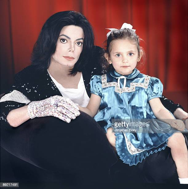 Singer/Songwriter Michael Jackson with Paris Michael Katherine Jackson age 4 photographed in Los Angeles for Vibe Magazine on December 17 2001