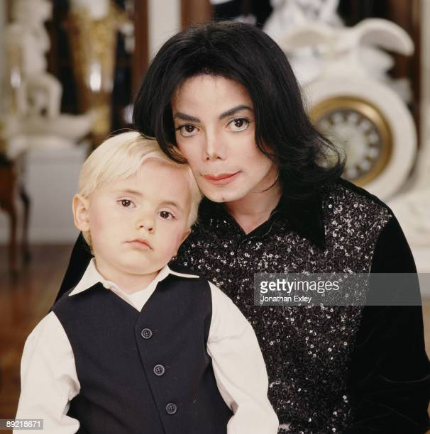 Singer/Songwriter Michael Jackson with son Michael Joseph Jackson, Jr. Photographed at Neverland Ranch in 2001.