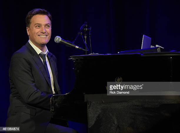 Singer/Songwriter Michael W Smith performs at Sam's Place Music For The Spirit at Ryman Auditorium on January 11 2015 in Nashville Tennessee
