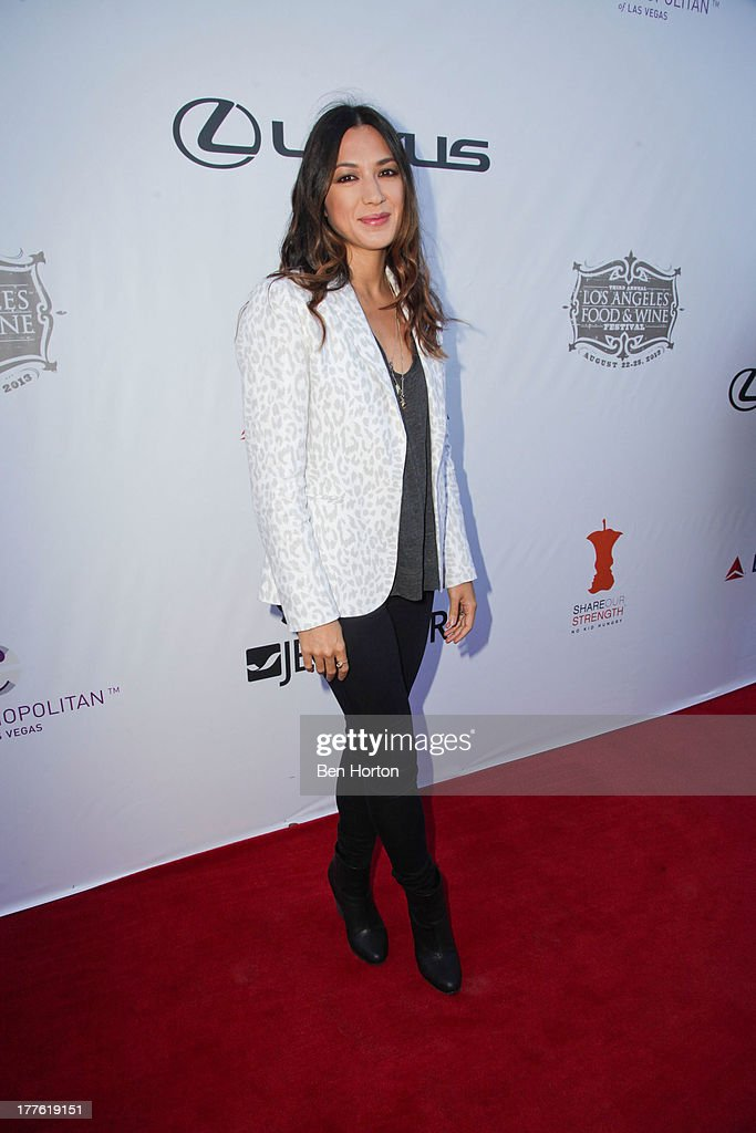 Singer-songwriter Michelle Branch attends LEXUS Live on Grand hosted by Curtis Stone at the third annual Los Angeles Food & Wine Festival on August 24, 2013 in Los Angeles, California.