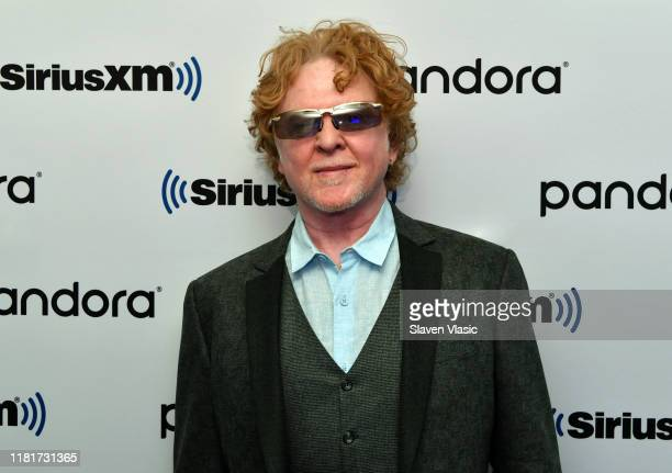 Singer/songwriter Mick Hucknall of pop band Simply Red visits SiriusXM Studios on October 17 2019 in New York City