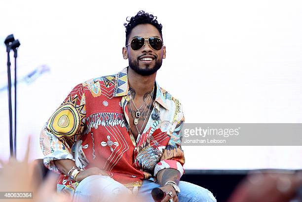 SingerSongwriter Miguel performs onstage during the REVOLT Live Takeover at Hollywood Highland Courtyard on July 13 2015 in Hollywood California