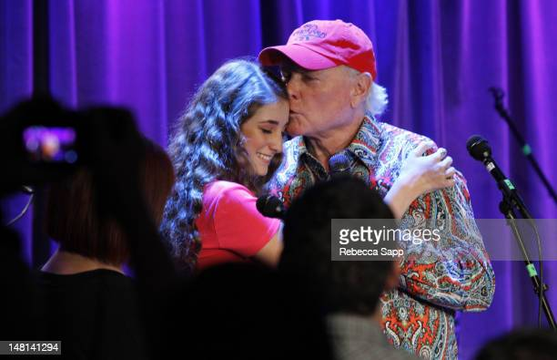 Singer/songwriter Mike Love of the Beach Boys and Ambha Love of California Saga at An Evening With California Saga at The GRAMMY Museum on July 10...