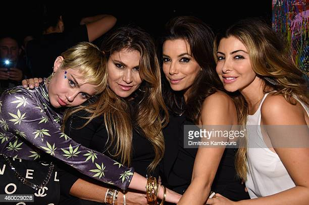 "Singer/songwriter Miley Cyrus Larsa Pippen actress Eva Longoria and guest attend Haute Living presents Hublot ""Time Is Beautiful"" at the estate of JR..."