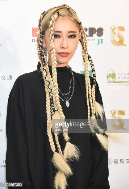 Singer/songwriter Miliyah Kato attends the photocall for RockCorps 2018 at Makuhari Messe on September 1 2018 in Chiba Japan