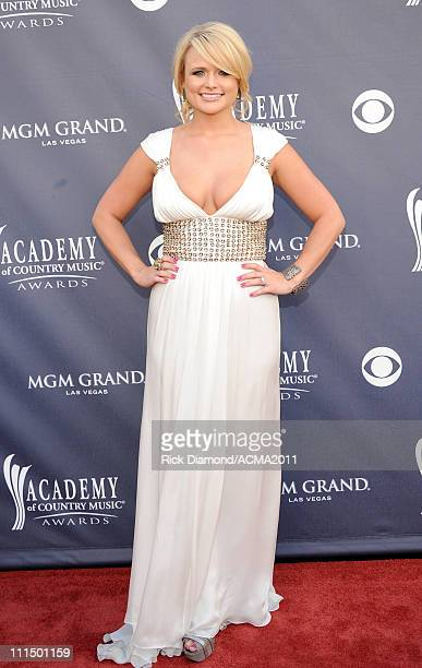 Singer/Songwriter Miranda Lambert arrives at the 46th Annual Academy Of Country Music Awards RAM Red Carpet held at the MGM Grand Garden Arena on...