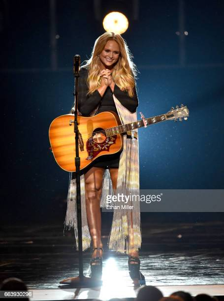 Singersongwriter Miranda Lambert performs onstage during the 52nd Academy of Country Music Awards at TMobile Arena on April 2 2017 in Las Vegas Nevada