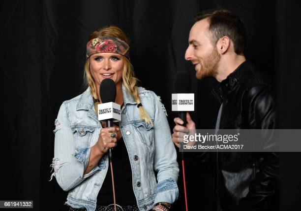 Singersongwriter Miranda Lambert speaks during the 52nd Academy Of Country Music Awards Cumulus/Westwood One Radio Remotes at TMobile Arena on March...