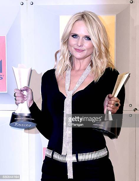 Singersongwriter Miranda Lambert winner of the Female Vocalist of the Year and Vocal Event of the Year awards poses in the press room during the 51st...